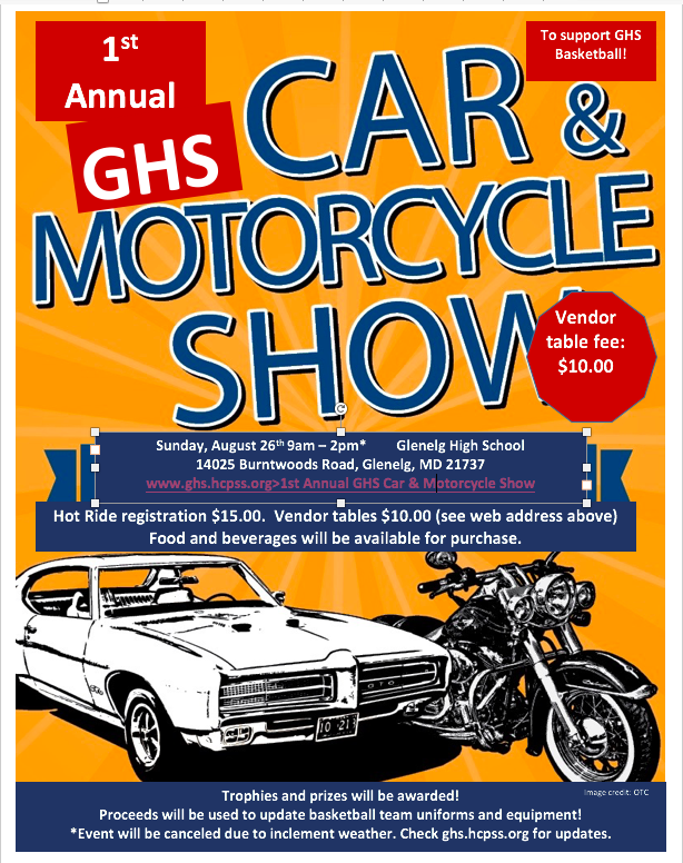 Car Show 8/26/18 9am - 2pm