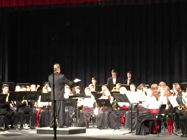 A historic moment as Barry Enzman conducts for the last time at hcpss band assessments